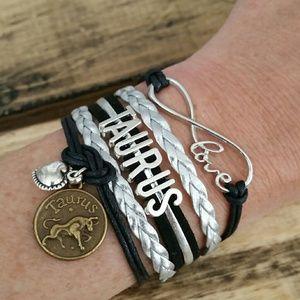 Taurus bracelet!  Trustworthy Taurus friend gift!